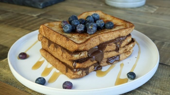 High-Protein Chocolate Hazelnut French Toast