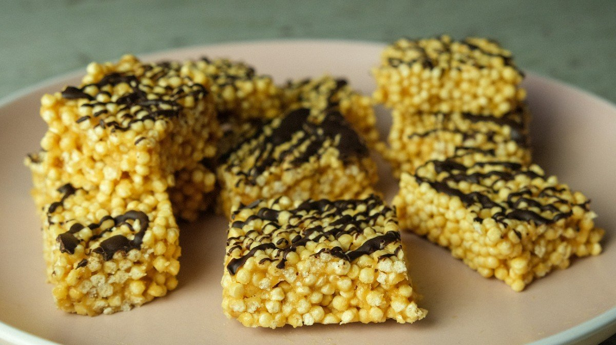 No-Bake, High-Protein Crispie Bubble Squares