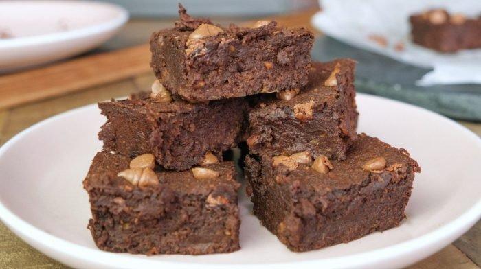 5-Ingredient Sweet Potato Brownies | No Flour Needed