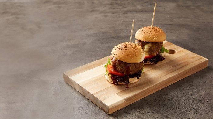 Mozzarella-Stuffed Burgers