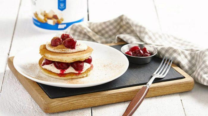Cherry Bakewell Protein Pancakes | Healthy Breakfast Recipe