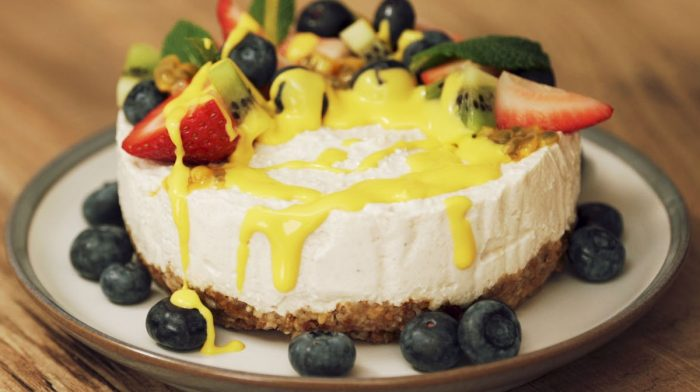 Tarta de queso vegana New York | Con Omega-3 líquido
