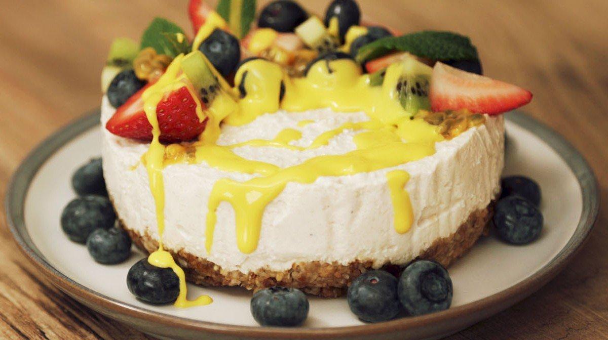 Tarta de queso vegana