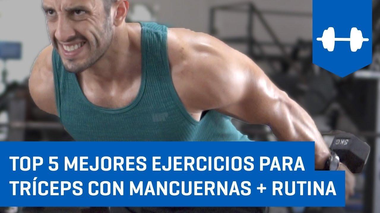 ejercicios triceps en casa mancuernas