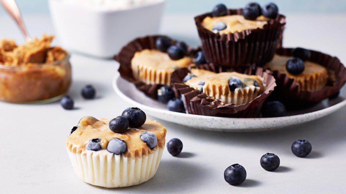 Muffins proteicos de yogur helado | Snack post-entrenamiento