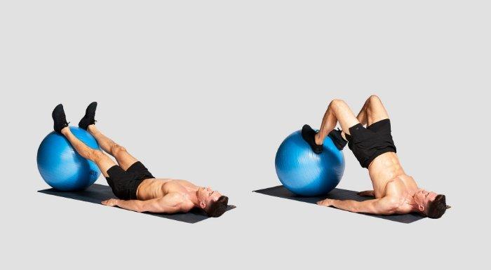 Curl femoral para entrenamiento de pierna