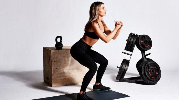 Entrenamiento de pierna para tonificar los músculos
