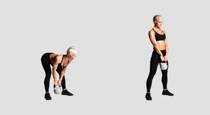 Peso muerto rumano para el entrenamiento de pierna