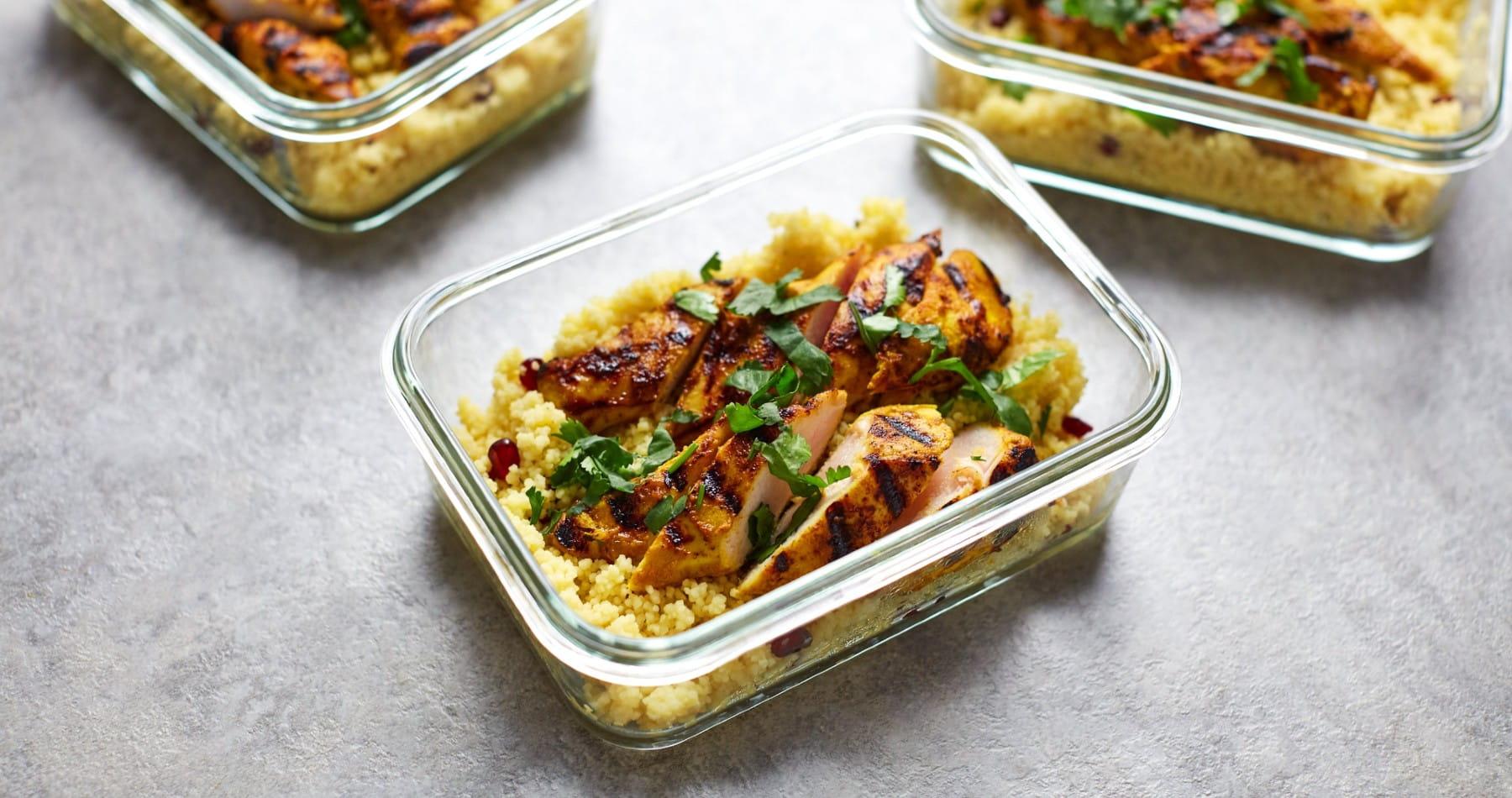 Pollo picante con cuscús | Comidas saludables para llevar