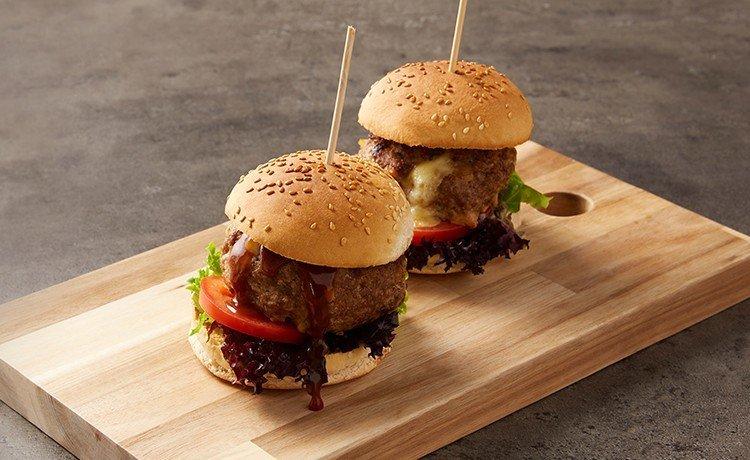 hamburguesas de Mozzarella