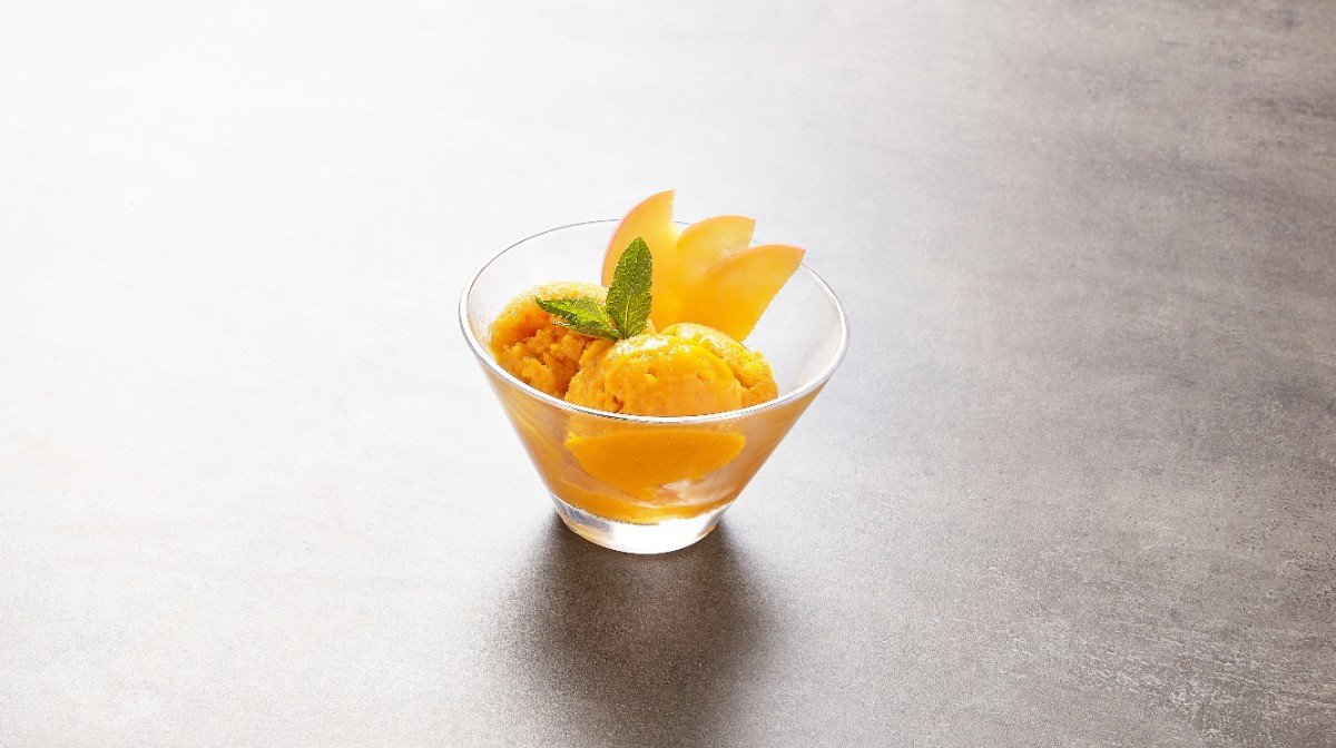 Sorbete de mango con BCAA