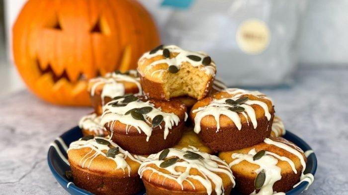 Muffins de calabaza ricos en proteína | Receta de Halloween
