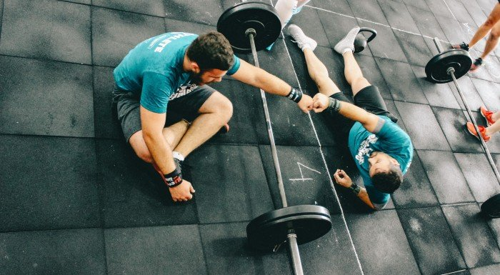Hombres delgados ganar músculo