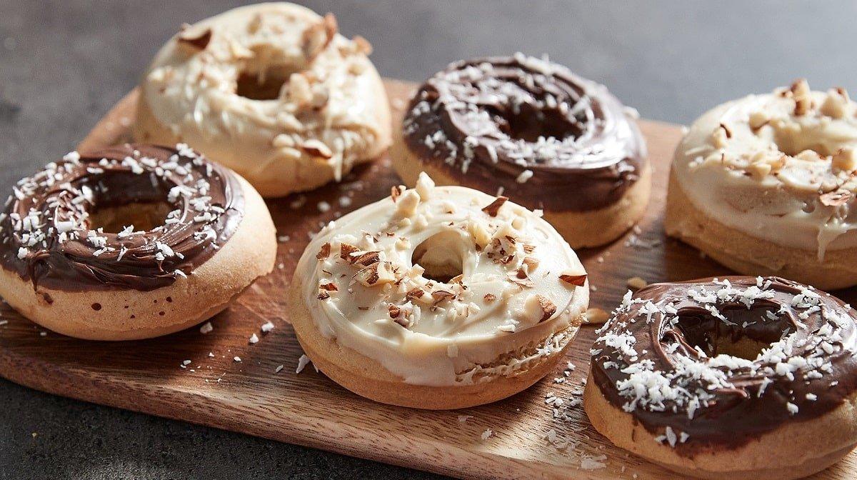 Receta de Donuts al horno saludables con Crema Proteica para Untar