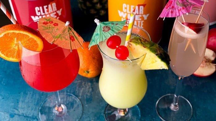 Mocktails de Clear Whey Isolate | 3 recetas de cócteles sin alcohol