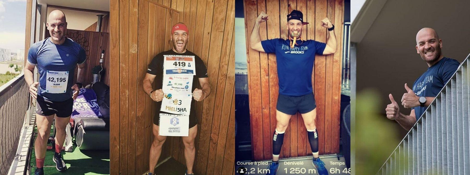 Come quest'uomo ha corso più di 6 maratone dal proprio balcone