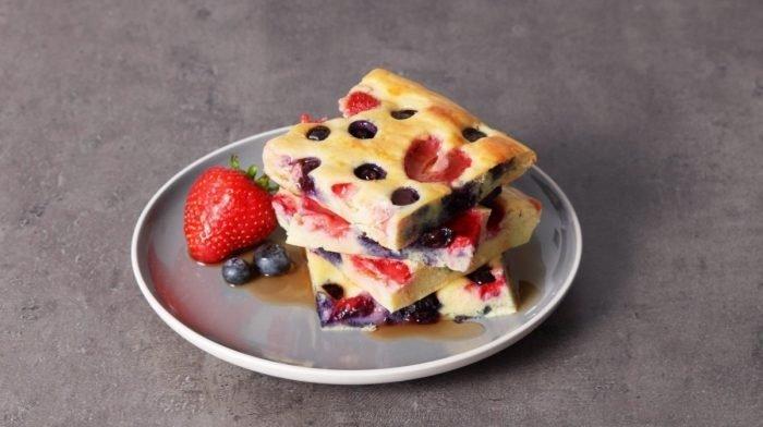 Sheet Pan Protein Pancakes | Een heerlijke ontbijthack