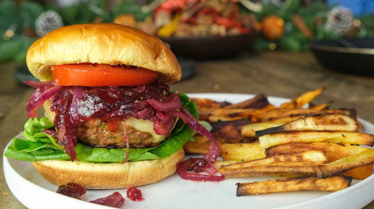 Christmas Turkey & Cranberry Burger
