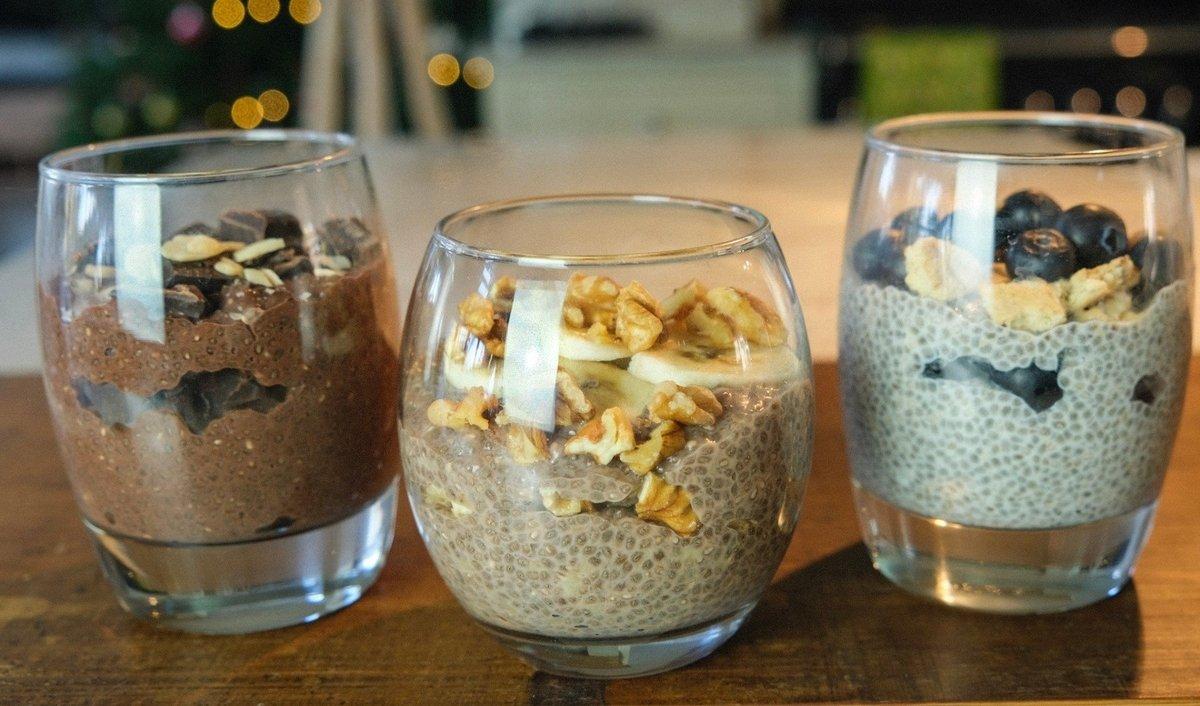 Chia Pudding 3 Ways | Eiwitrijk ontbijt Recept