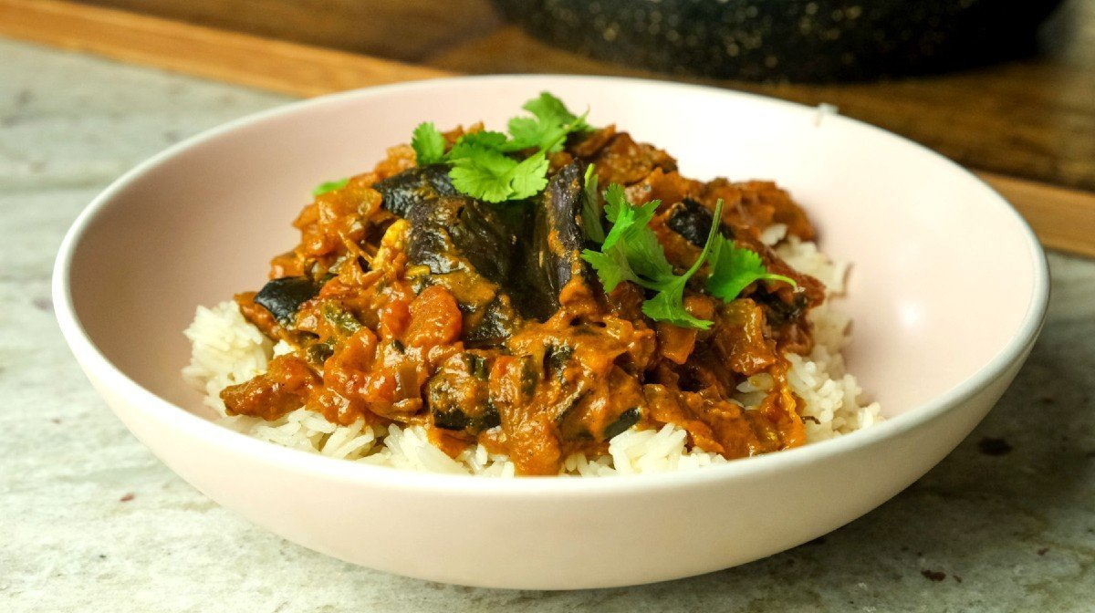 Vegan Aubergine Masala | Quick & Easy Dinner Ideas