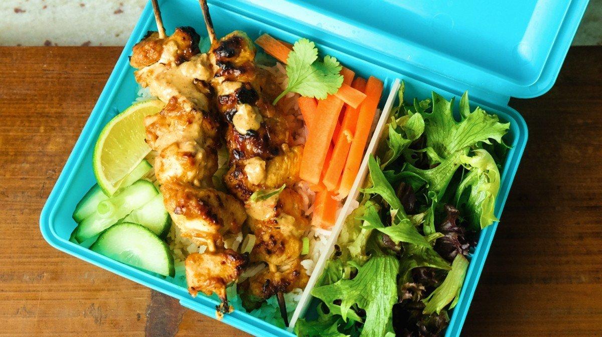 Easy Chicken Satay Meal Prep