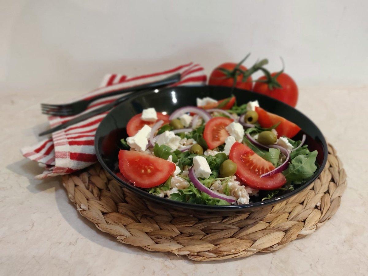 Greek protein salad