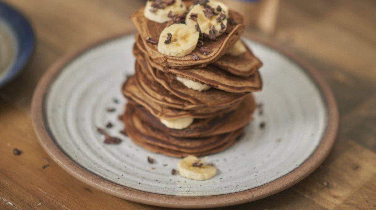 Fluffy Maca Vegan Protein Pancakes