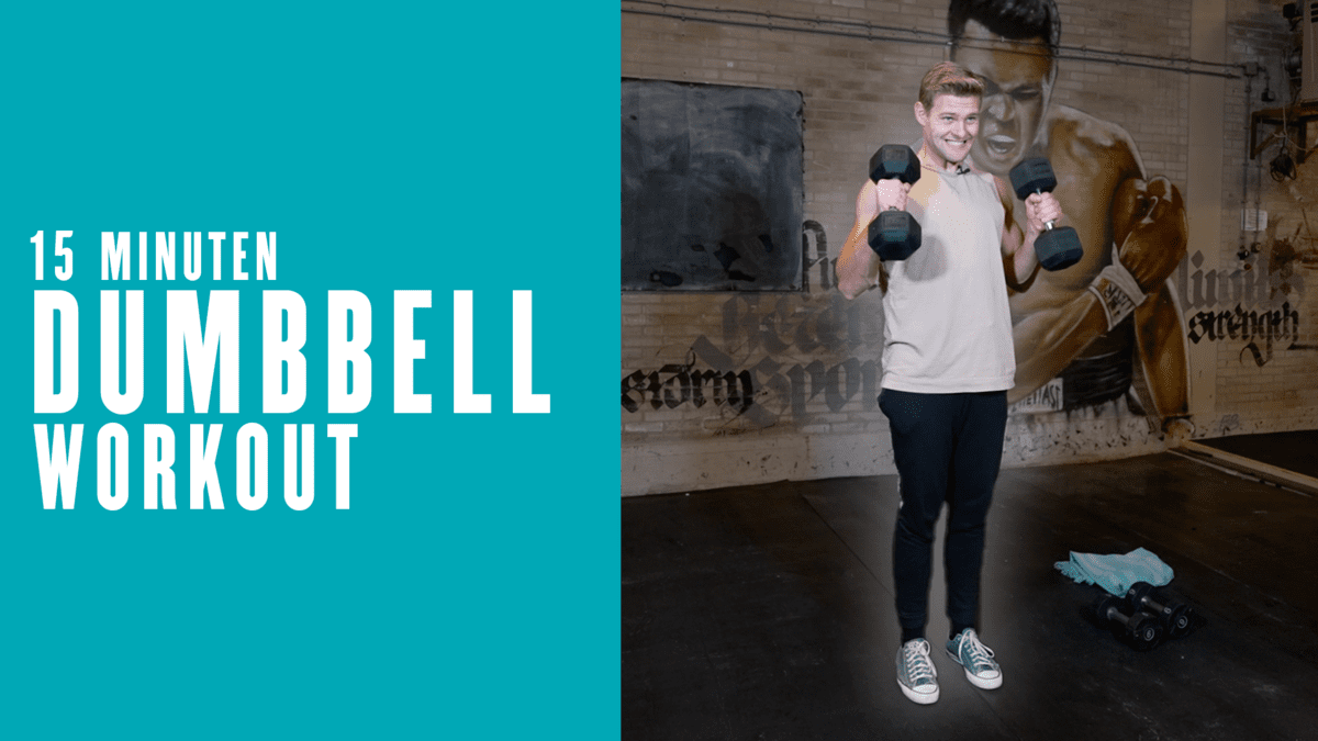 15 minuten Dumbbell Workout | Home Workout met Tom Tuning