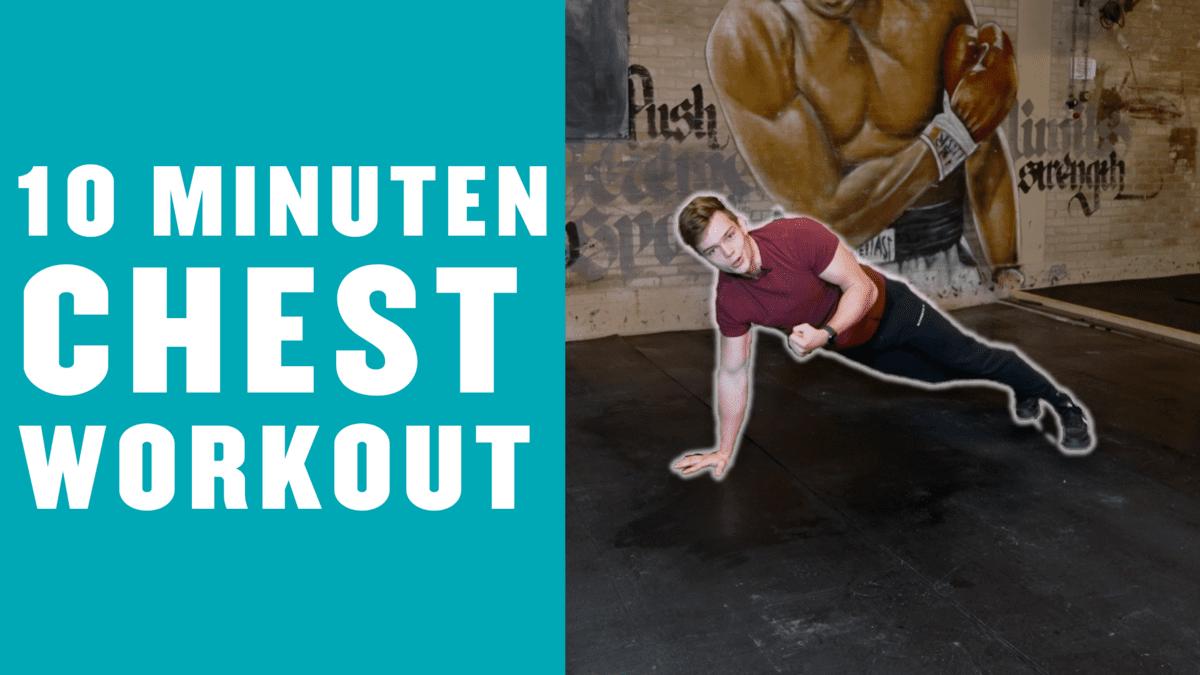 10 Minuten Chest Workout voor Thuis | Push Up Workout met Stan Browney