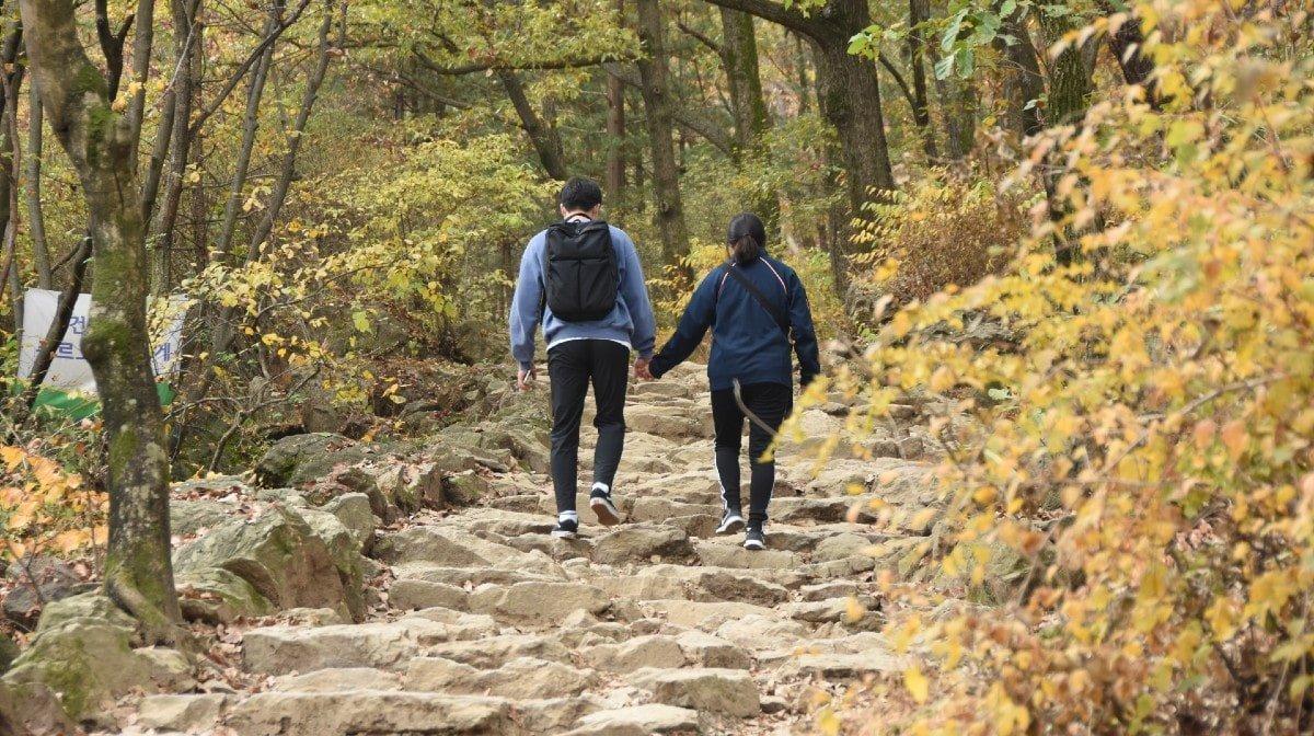Wandelen met je partner kan je vertragen, zegt een nieuwe studie