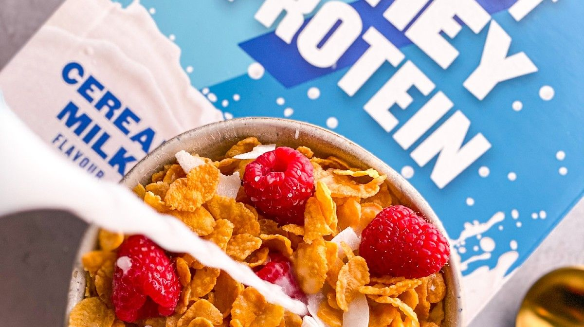 Begin je dag goed met Coffee Boost Whey & Cereal Milk