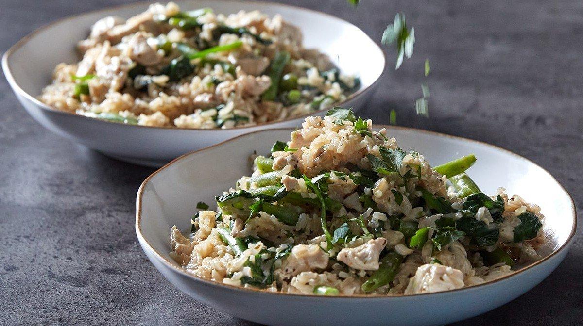 One-Pot Creamy Garlic Chicken & Rice