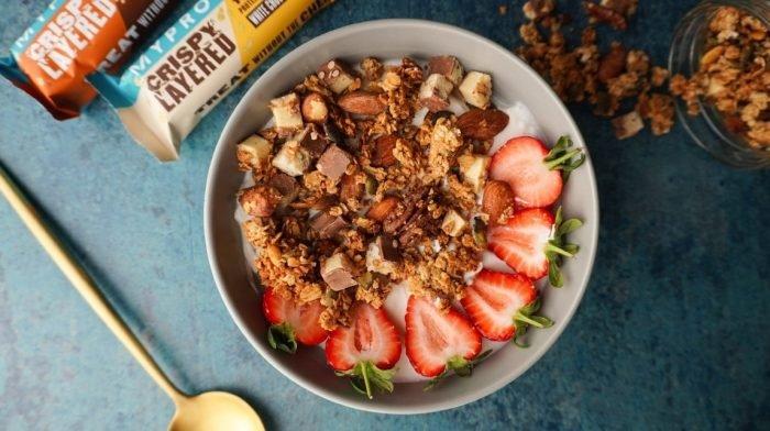 Crispy Layered Bar Granola | Zelfgemaakt Protein Granola Recept