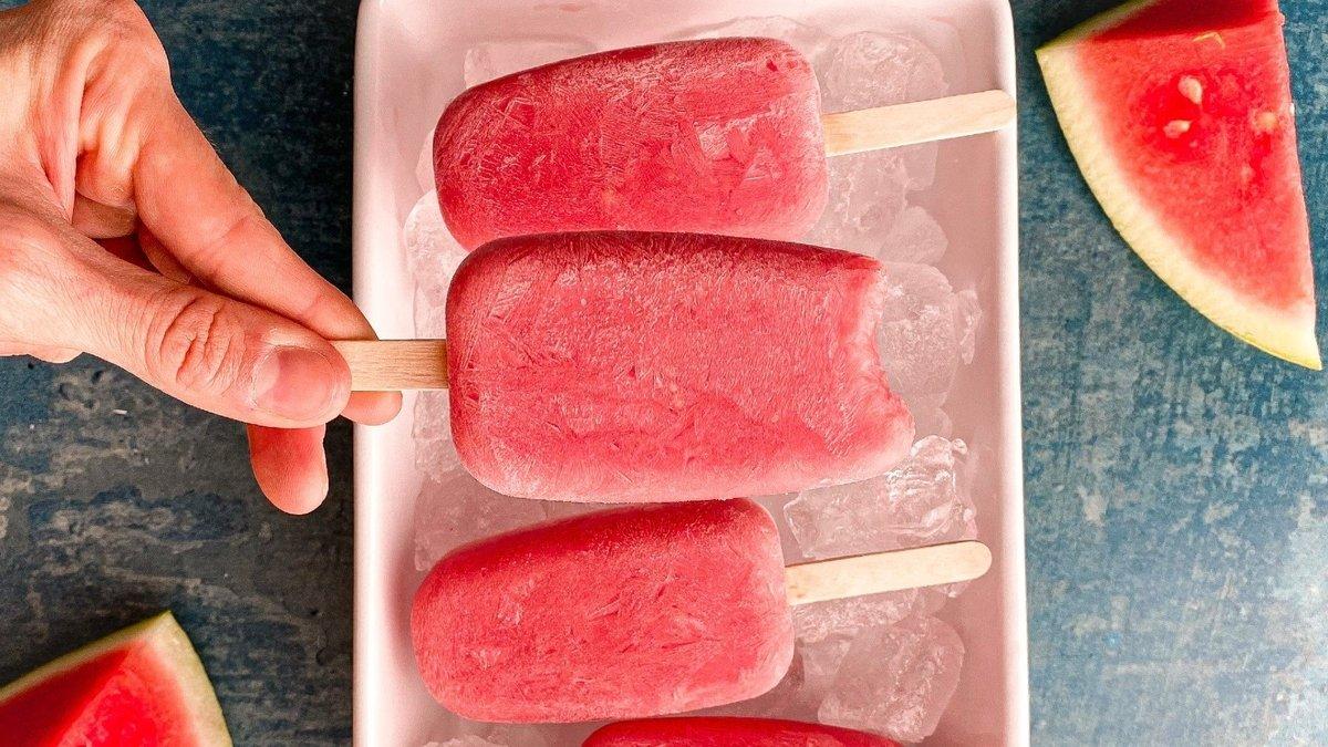 Clear Vegan Protein Watermelon Ice Lollies