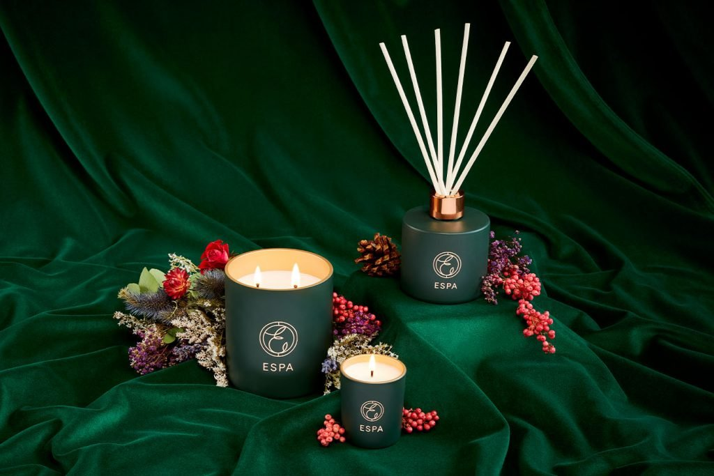winter spice collection candle and diffuser espa skincare