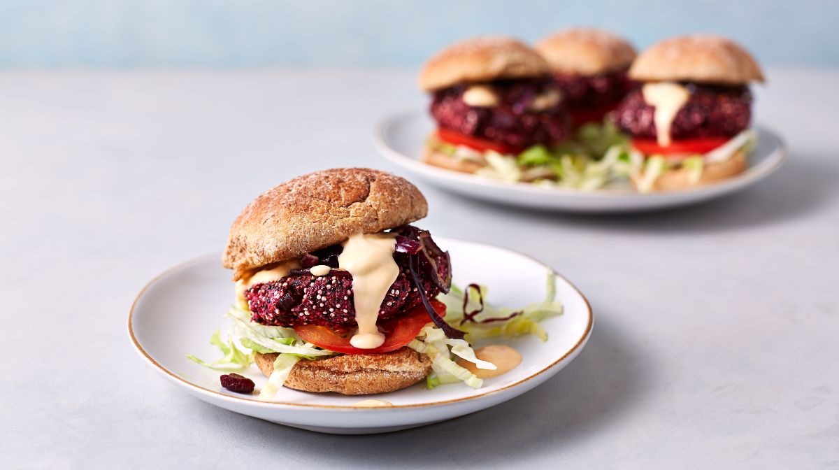 15-Minute Bangin' BBQ Beetroot Burgers | Beetroot Burger Recipe