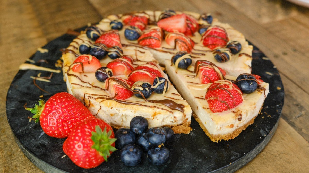 High-Protein Peanut Butter Cheesecake