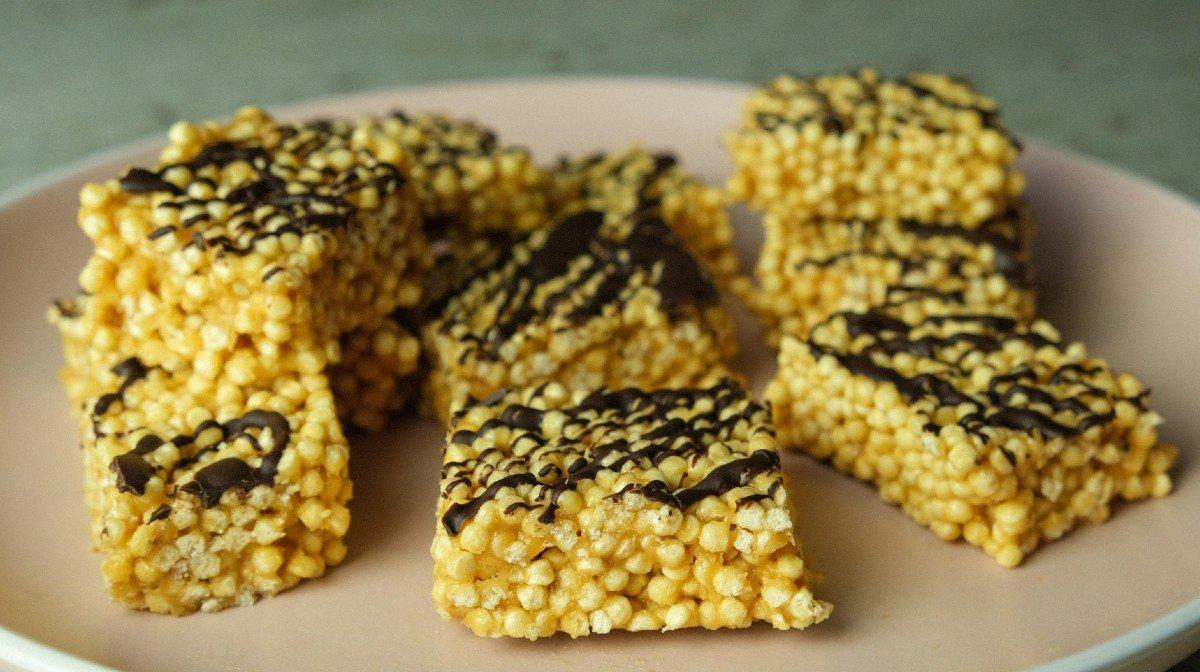 No-Bake, High-Protein Crispie Squares