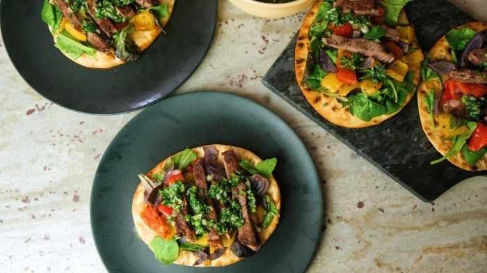 Chimichurri Steak Flatbreads