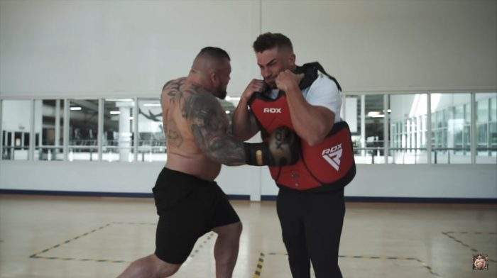 Eddie Hall Punches Ryan Terry With '100% Force'