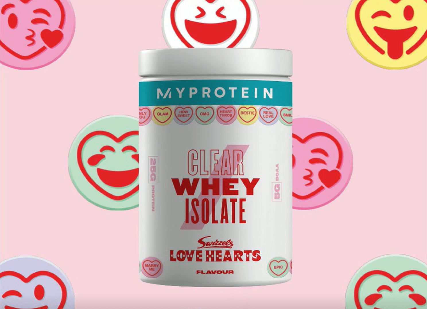 Clear Whey Love Hearts