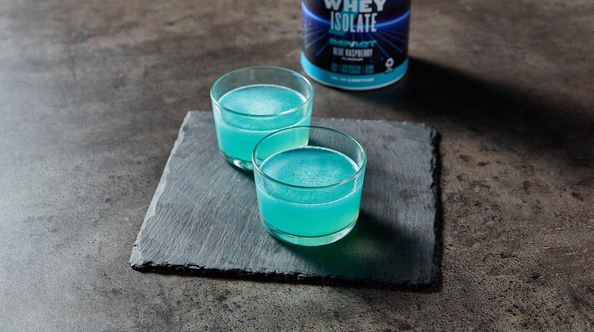 kék málnás fehérjepor