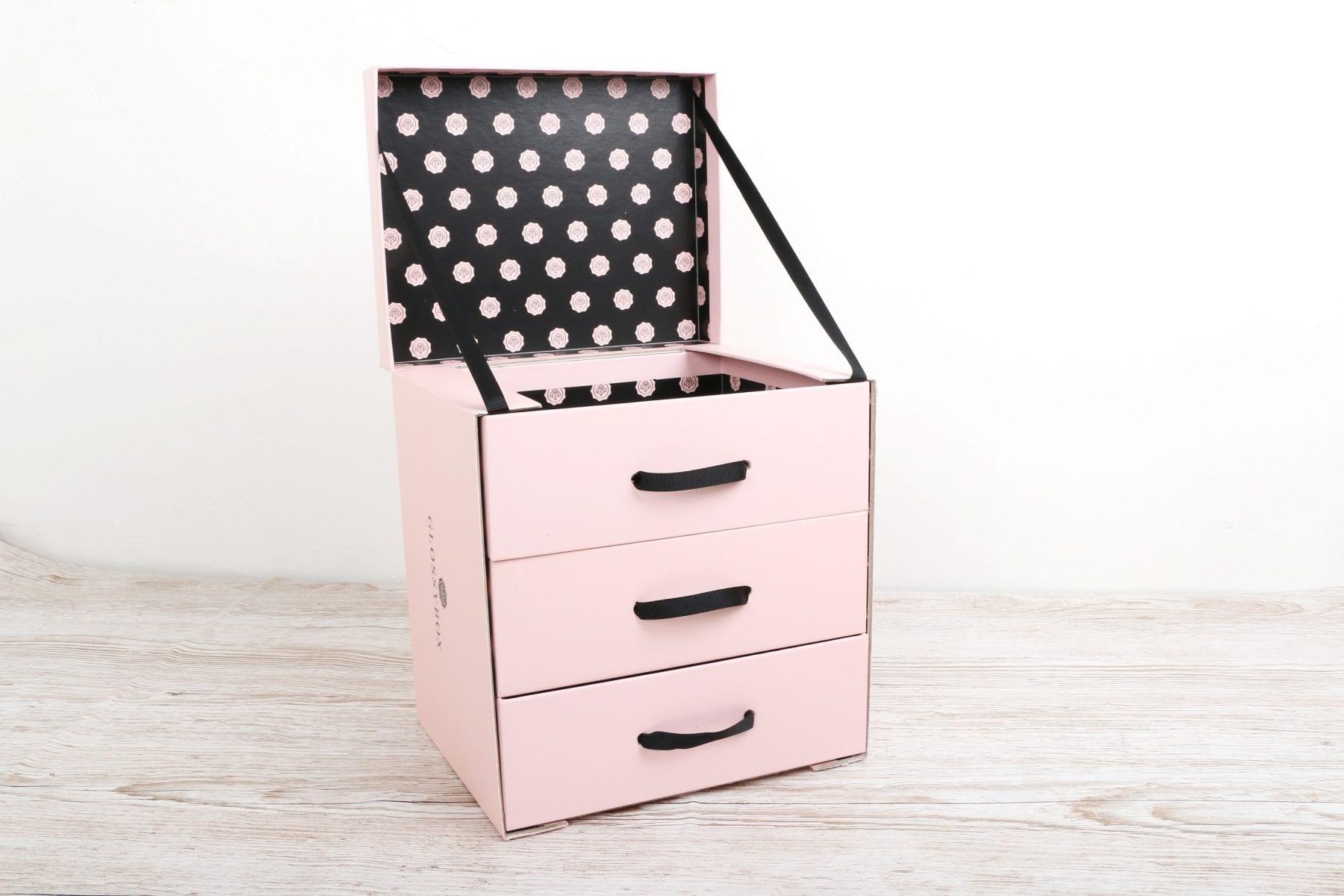 glossybox cosmetic organiser