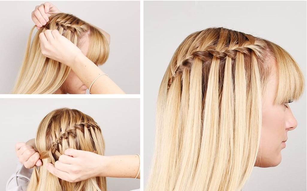 waterfall braids tutorial
