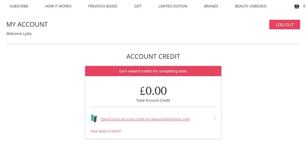 Step 2 - How To Spend Your Glossy Credit On lookfantastic