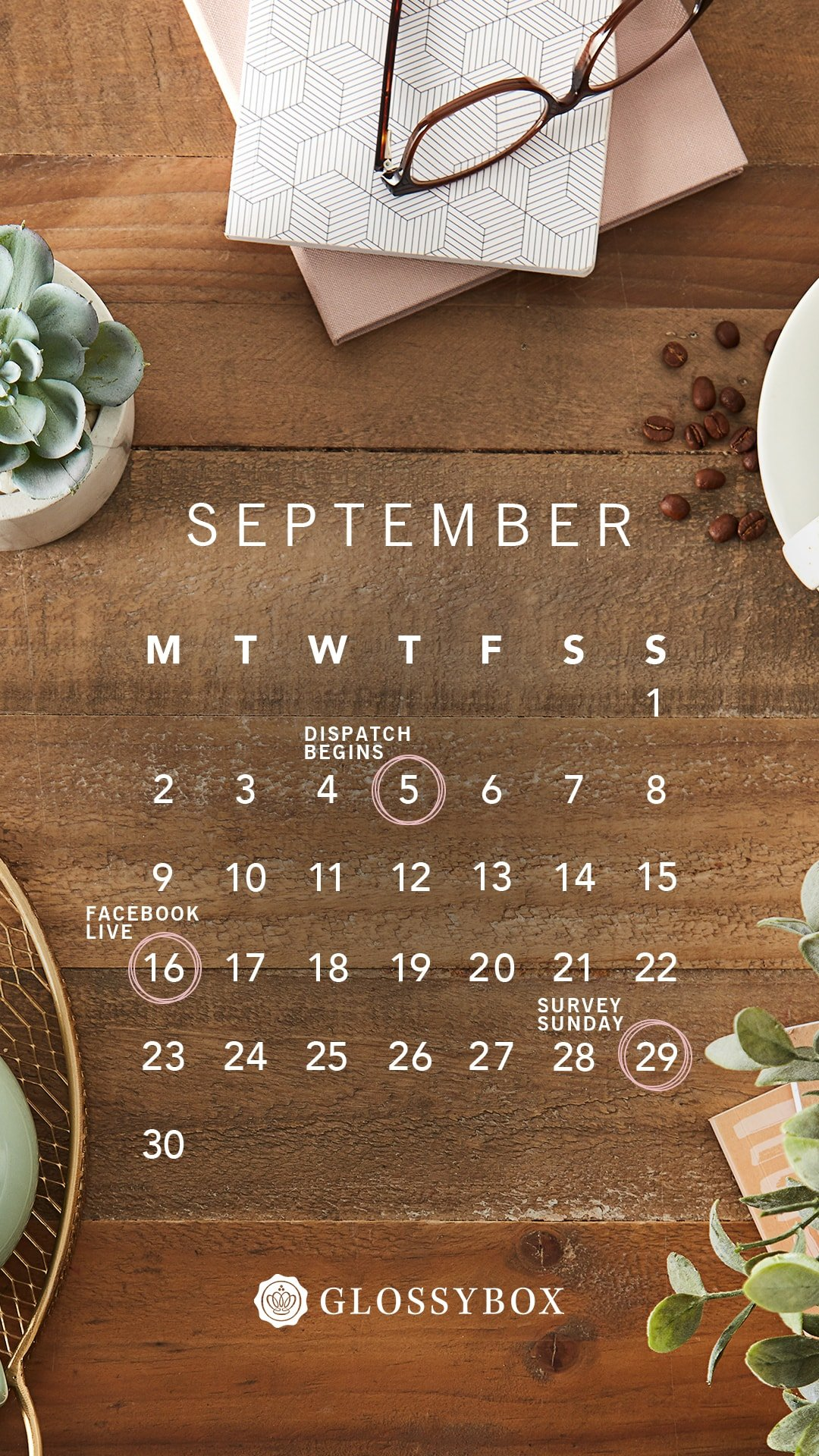 glossybox calendar
