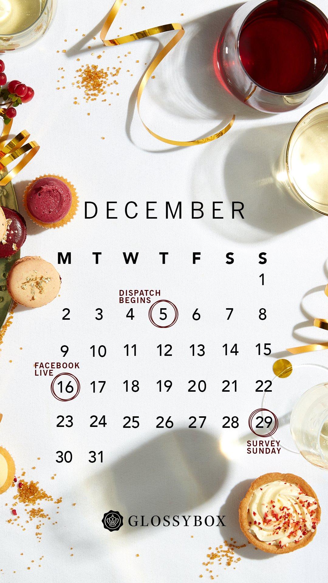 GLOSSYBOX December Calendar