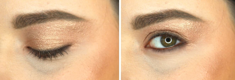 apply cream eyeshadow to create a smokey night look