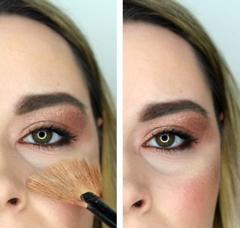 how to set your under eye makeup