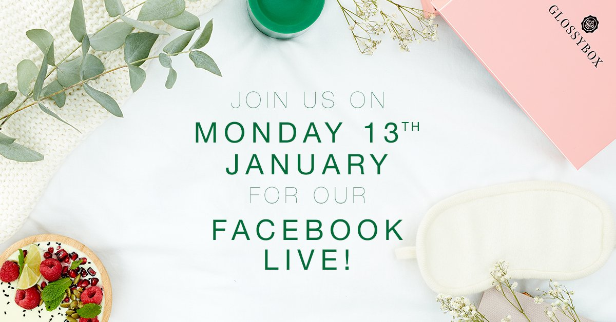 GLOSSYBOX Facebook Live